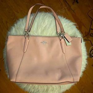 Beautiful light pink coach purse